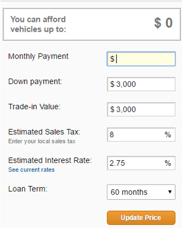 Used Car Down Payment Calculator >> Calculate Auto Car Loan Payment Used Car Listings